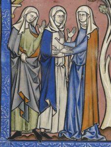 Morgan library, MS M.638, folio 17r, détail en bas à gauche