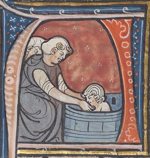 Fig. 8 - Une femme a noué dans son dos ses manches qu'elle a dé-passées.